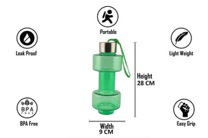 2002_Steel Cap Plastic water Dumbbells Bottle - Gujjuseller.com