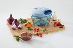 080 Manual Food Chopper, Compact & Powerful Hand Held Vegetable Chopper/Blender - Gujjuseller.com