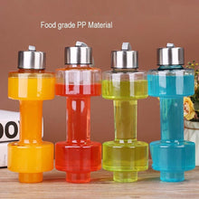 Load image into Gallery viewer, 2002_Steel Cap Plastic water Dumbbells Bottle - Gujjuseller.com