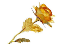 Load image into Gallery viewer, 879 24K Artificial Golden Rose/Gold Red Rose with Gift Box (10 inches) - Gujjuseller.com