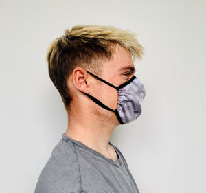 Male Grey Design Face Mask