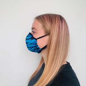 Female Tiger Blue Face Mask