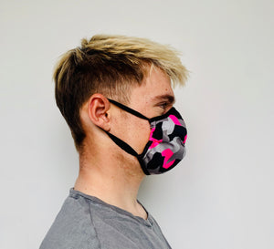 Male Pink Camo Face Mask