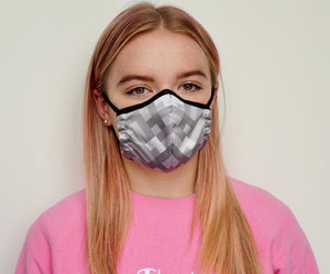 Female Grey Design Face Mask