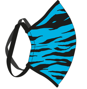 Male Tiger Blue Face Mask
