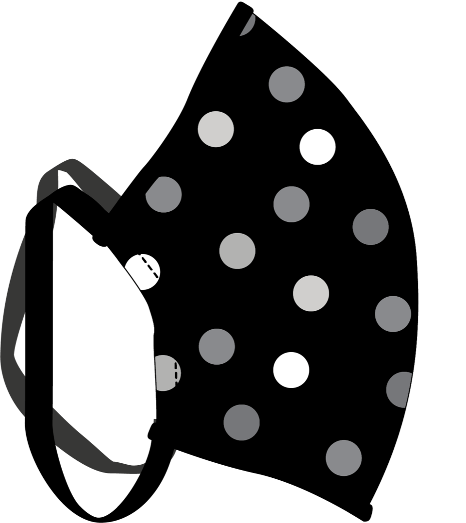 Male Black Polka Dot Face Mask