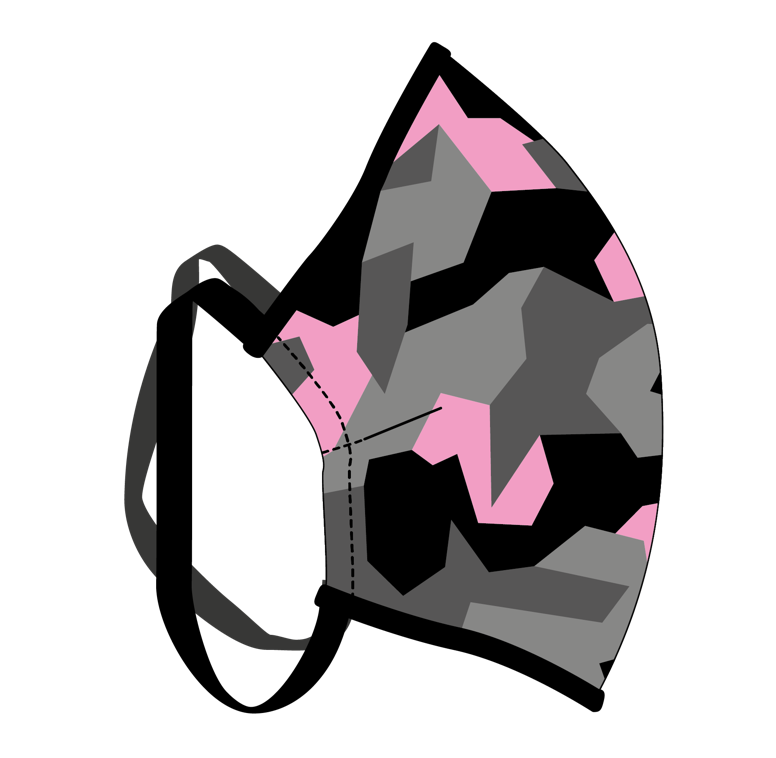 Female Pink Camo Face Mask