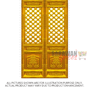 Ak Temple 15X9inch Meenakari Gold Door