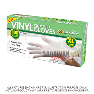 Disposable Vinyl Gloves Large 100Pcs