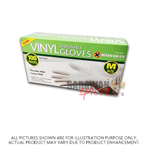 Disposable Vinyl Gloves Medium 100Pcs