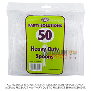 Heavy Duty Plastic Spoon 50Pcs