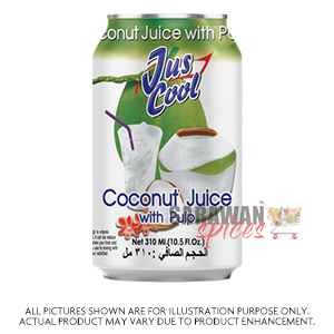 Jus Cool Coconut Juice W Pulp 330Ml