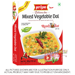 Priya Mixed Vegetable Dal 300G