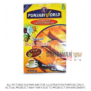 Punjabi World Suji Rusk 400G
