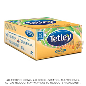 Tetley With Ginger 50 Tea Bags