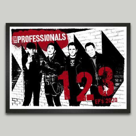 The Professionals 1, 2, 3 EPs 2020 SIGNED Screen-printed Poster
