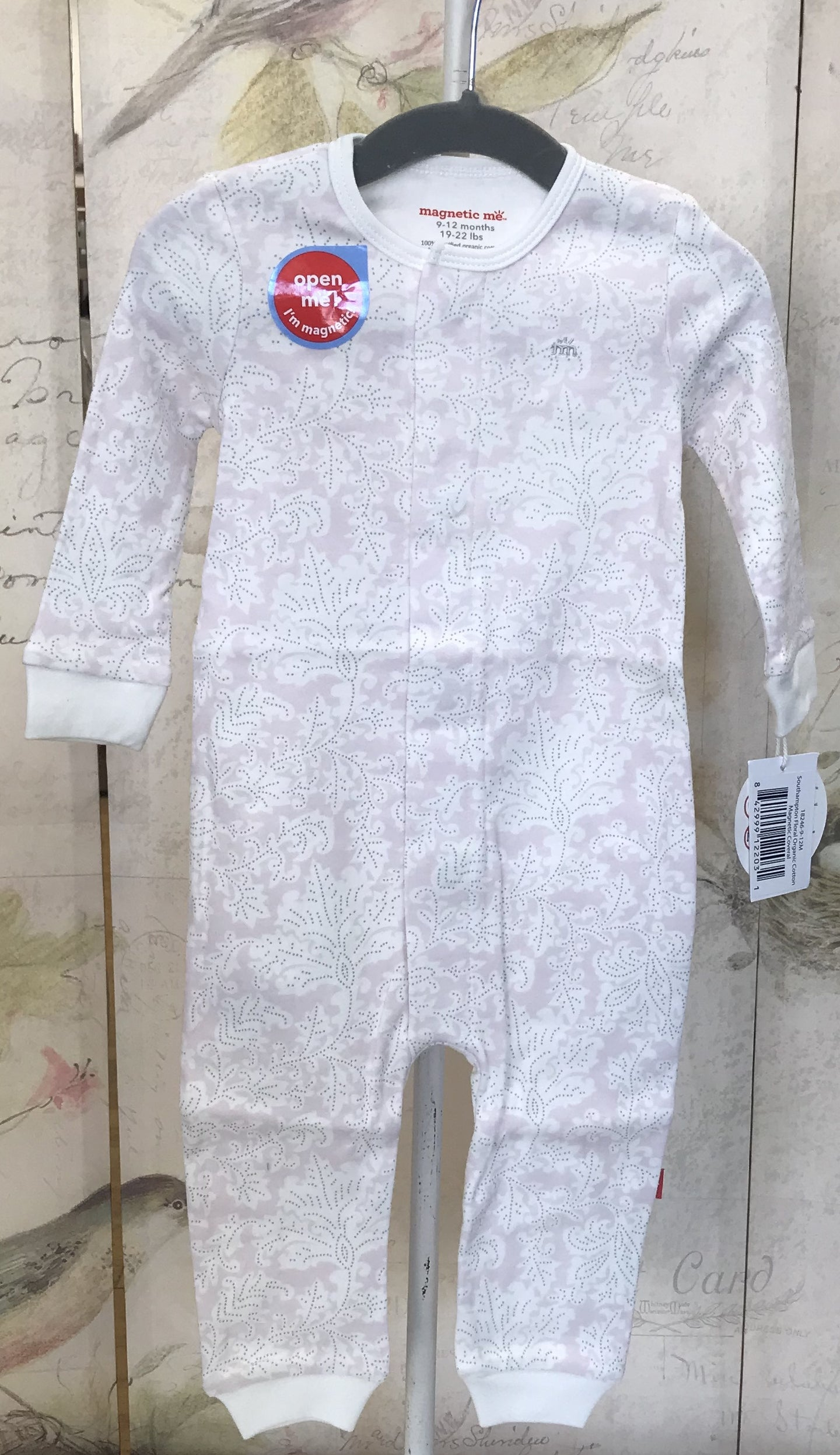 South Hampton Floral Organic Cotton Magnetic Coverall