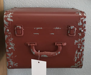 Red Suitcase Wall Shelf