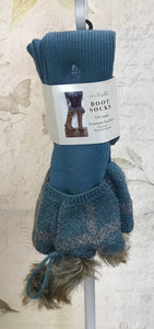Sherlock Boot Socks w/Faux Fur