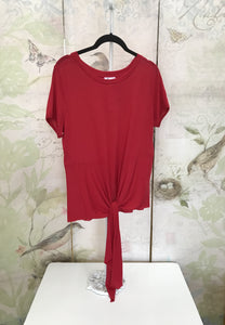 Front Tie  Knit T-Shirt