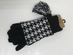 2 Piece Hounds Tooth Gloves