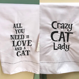 Cat Inspired Dish Towel