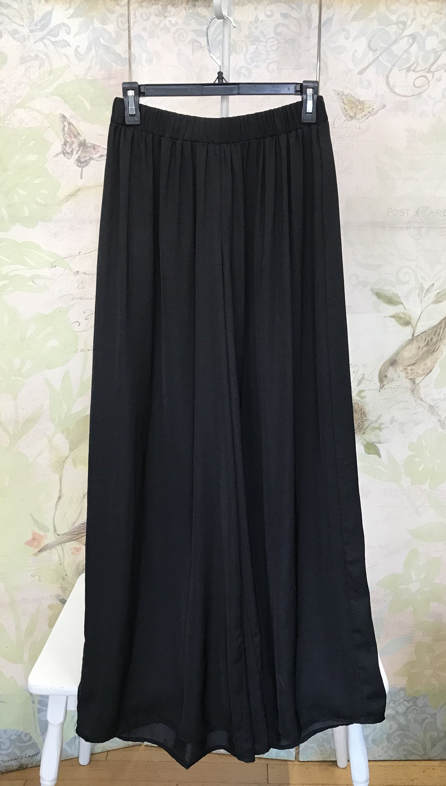 Flowy Wide Leg Black Pants