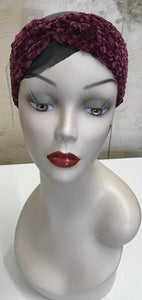 Crocheted Velvet Cinched Earband