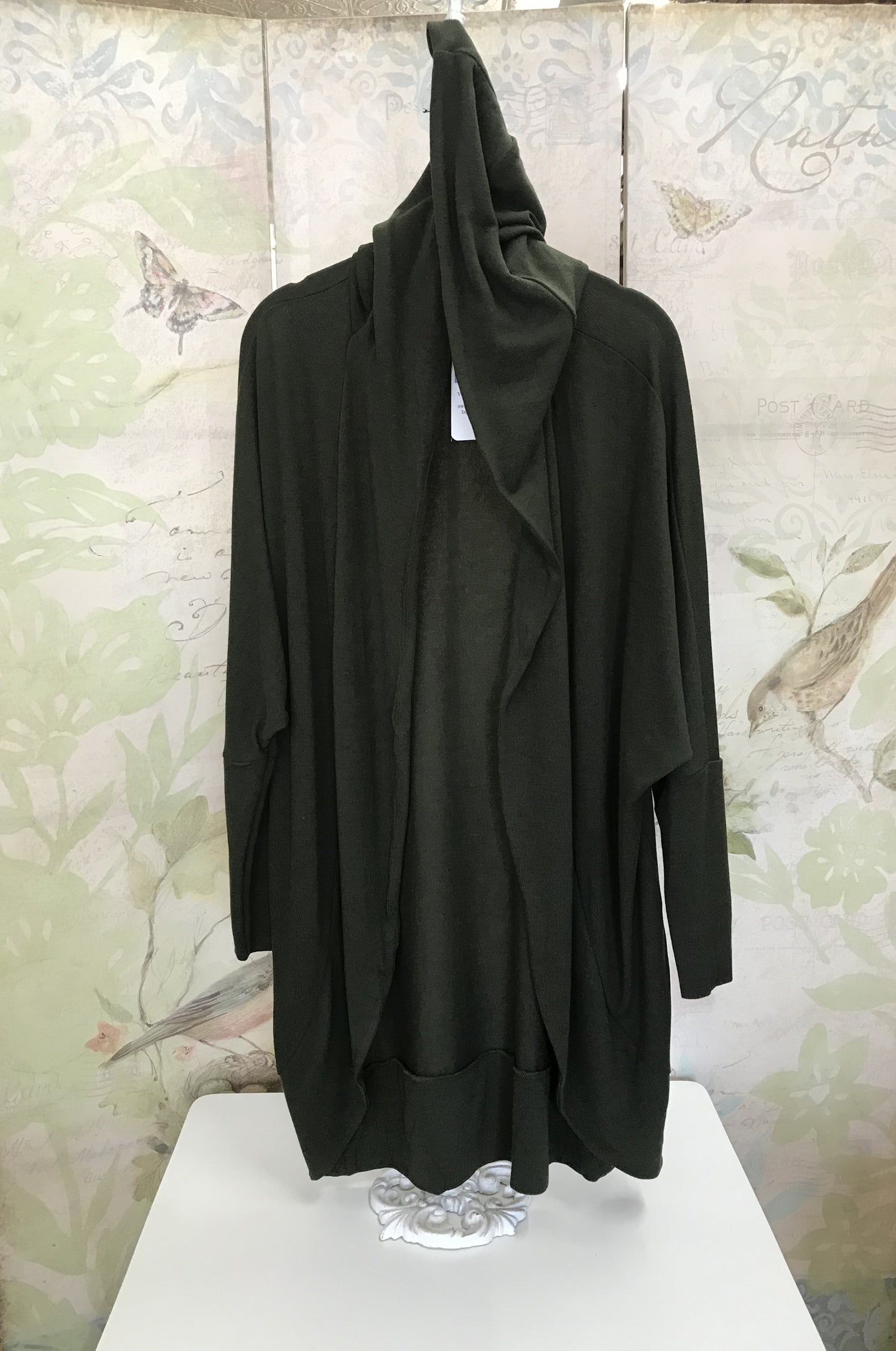 Olive Hooded Cardigan Jacket