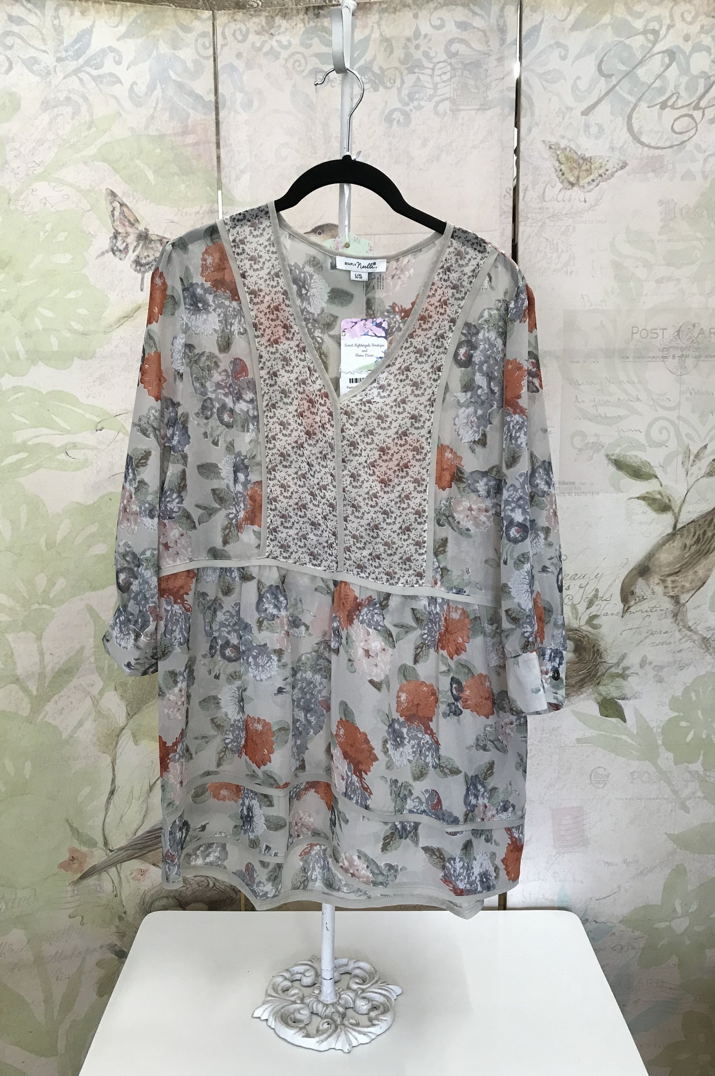 Forget Me Not Print Top