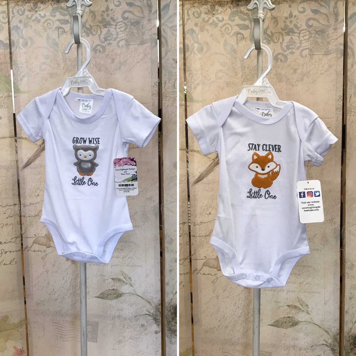 3-6m Woodland Baby Diaper Shirt