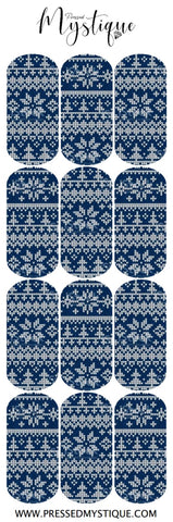 Blue Sweater Decal