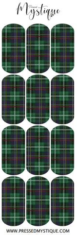 Green Plaid Decal