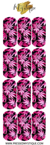 Pink Weed Decal