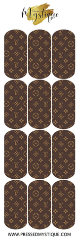 Brown LV Decal