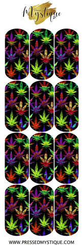Multicolor Weed Decal