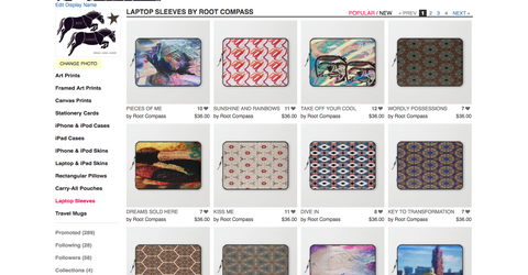 Root Compass Laptop Sleeves on Society6