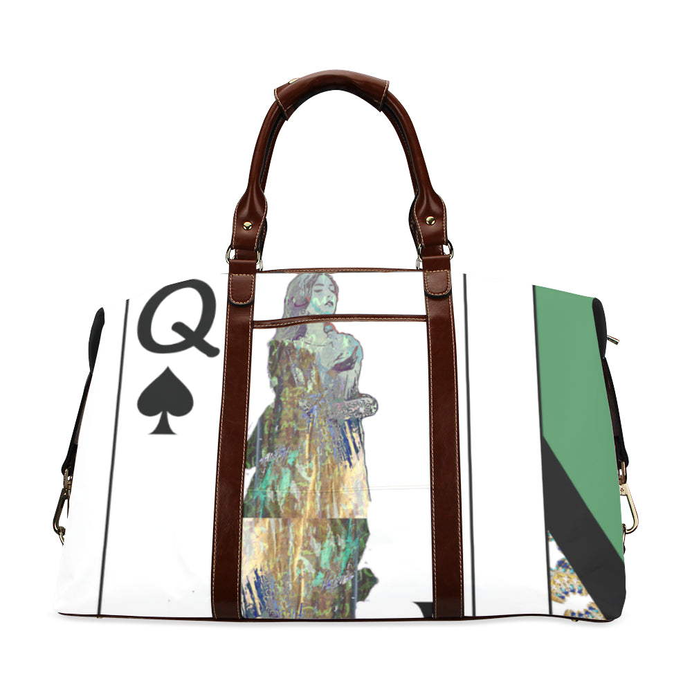 Play Your Hand...Queen Spade No. 3 Classic Travel Bag