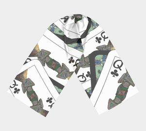 Play Your Hand...Queen Club No. 1 Long Scarf
