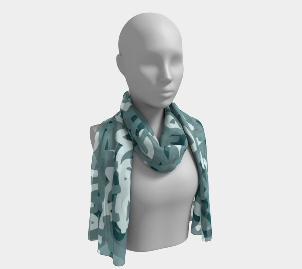 Love All Day Green Long Scarf