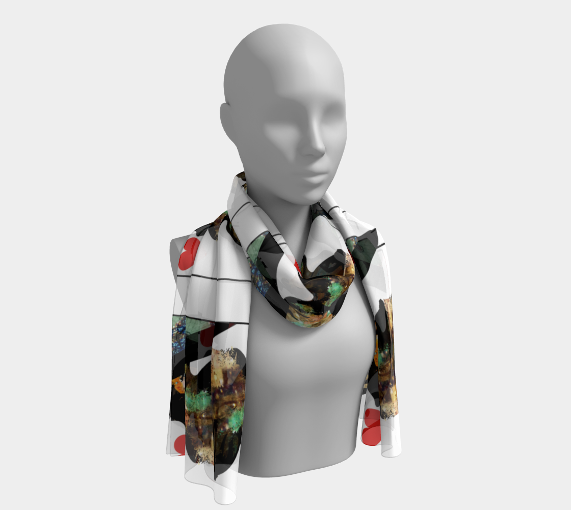 Play Your Hand...Queen Heart No. 1 Long Scarf