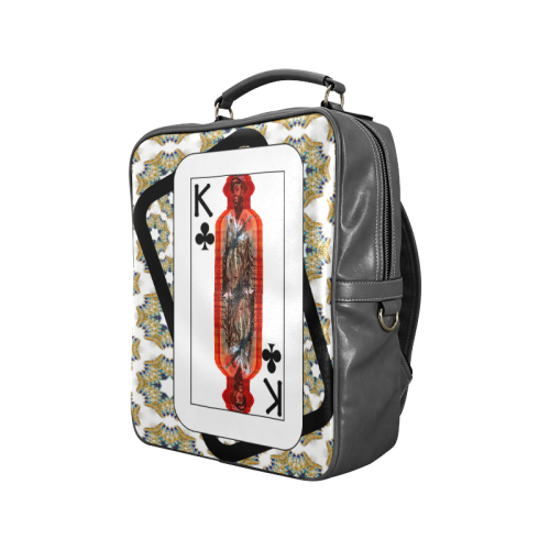 Play Your Hand...King Club No. 3 Square Backpack