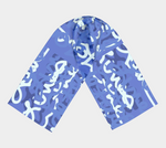 Load image into Gallery viewer, Love All Day Blue Long Scarf