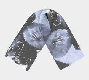 Love Lives Black and White Long Scarf