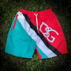 Nautical swim trunks.