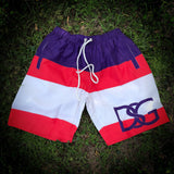 Olympia swim trunks.
