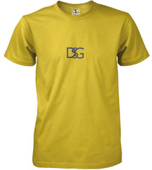 Gold dry fit T-shirt.