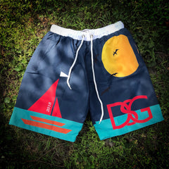 Sail swim trunks.