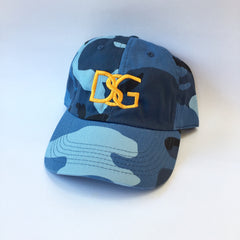 Blue Camo DSG dad hat.