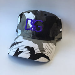 Gray camo DSG dad hat.